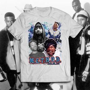 Vintage Style White Method Man Rap Tee